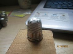Antique Thimble Sterling Silver 16 IC A Marked Sewing Equipment Primitive | eBay