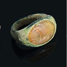 Ancient Roman Unicorn Intaglio Ring