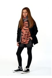 Frankie & Liberty T-shirt met raglan mouw . Animal print t-shirt. Fashion for girls www.koflo.nl.