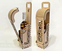 Wine box Wood wine box Plywood wine box Laser cut vector