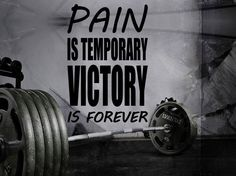 Gym Wall Decal For Home Gym Motivational Fitness - Pain Is Temporary Victory Is Forever