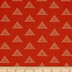 Designed by Maureen Cracknell for Art Gallery Fabrics, this cotton print is perfect for quilting, apparel and home decor accents. Art Gallery Fabric features 200 thread count of finely woven cotton. This floral collection is a mix between bohemian and romanticism with vibrant colors that are sure to be a show stopper. This fabric features triangles throughout. Colors include rusty orange and ivory.