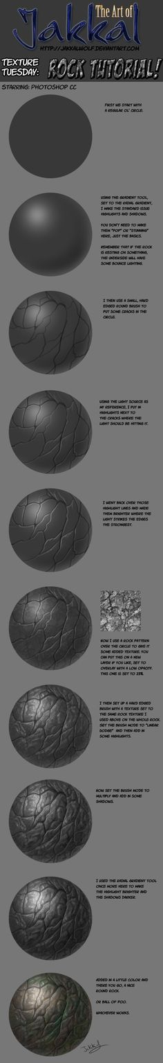 Texture Tuesday: Rock Tutorial by JakkalWolf.deviantart.com on @deviantART