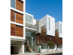 2011 AIA Housing Awards: Multi-family Living- Hancock Mixed Use Housing in West Hollywood, California; designed by Koning Eizenberg Architecture Facade Architecture, Residential Architecture, Contemporary Architecture, Architect Design House, House Design, Facade Design, Exterior Design, West Hollywood, Hollywood California