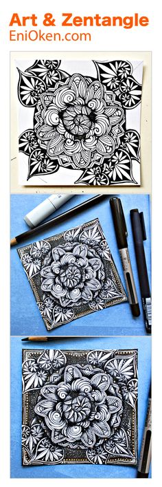Video lessons on how to create Zentangle®️ • enioken.com