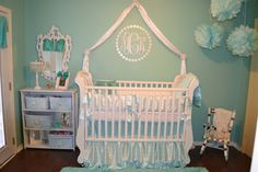 Full size of disney baby nursery furniture girl bedroom ideas rhymes top colors for room most Tiffany Blue Nursery, Pastel Nursery, Girl Nursery, Girl Room, Baby Nursery Furniture, Nursery Decor, Damask Nursery, White Nursery, Nursery Bedding