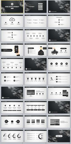 30+ Gray Infographics Business PowerPoint templates