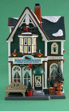 Dept 56 Snow Village ROSES ROSE'S FLOWER SHOP New In Box