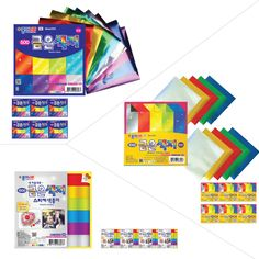Origami 134596 Kite Paper Assorted Colors 100 Sheets 6 25 Square