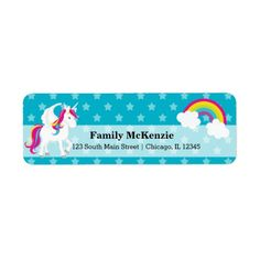 Sold #Unicorn #Label #horses #fantasy #kids Available in different products. Check more at www.zazzle.com/celebrationideas