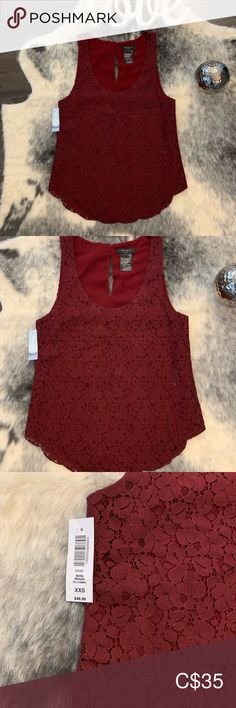 BNWT - Talula Burgundy Lace Top Brand new with tag - Gorgeous Betty Blouse with delicate details such as beautiful lace and scalloped hems. Wear on its own or layer for an effortlessly chic look. Scalloped Hem, Burgundy, Delicate, Two Piece Skirt Set, Brand New, Chic, Blouse, Lace, How To Wear