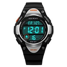 Boys Watch Child watches Waterproof Dial Digital Analog Display Sports Casual LED Wrist Watches Black -- You can find more details by visiting the image link. #BirthdayGift