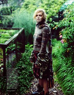 Landscape Garden Girl Fashion Rain Magazine Allotment