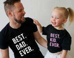 Camisas de padre hija mejor padre mejor cabrito conjunto de