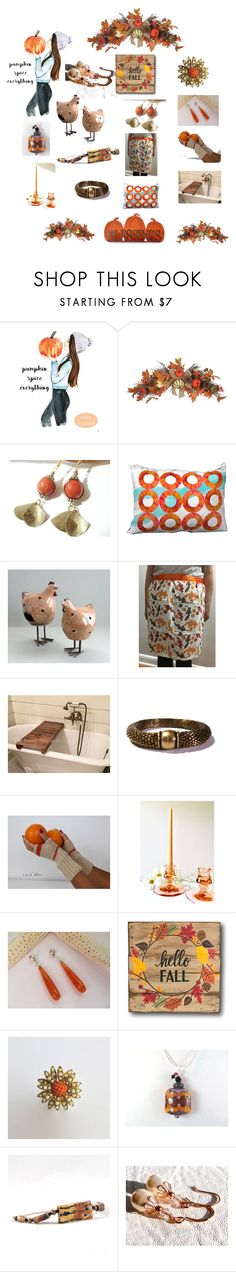 """Welcome Fall"" by therusticpelican ❤ liked on Polyvore featuring modern, contemporary, rustic and vintage"