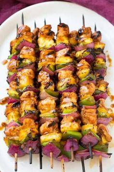 Hawaiian+Chicken+Kebabs