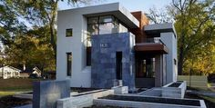 fachada de casas modernas con piedras by danieleralte, via Flickr