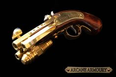 Beautiful prop weaponry for your Steampunk Costume. Due to shipping restrictions, available to European customers only. Trident Steampunk Pistol Prop/ Gun/ Blaster by ArcaneArmoury