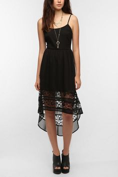 Band Of Gypsies High/Low Chiffon Dress  #UrbanOutfitters