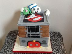 Image result for ghostbusters fire station cake