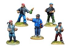 SV063 - Wrecking Crew Beat Em Up, Post Apocalyptic, Cops, Cyberpunk, Minis, Miniatures, Modern, Fictional Characters, Blue