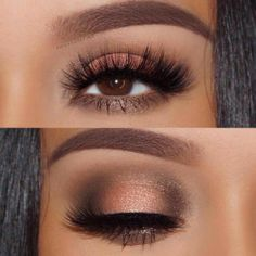 Eye Makeup - Pick the best combination of eyeshadow for brown eyes, and you will be the queen in every room you enter. Check out our photo gallery. - Ten Different Ways of Eye Makeup Eye Makeup Tips, Smokey Eye Makeup, Makeup Goals, Skin Makeup, Eyeshadow Makeup, Beauty Makeup, Makeup Ideas, Makeup Brushes, Makeup Hacks