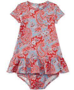 Ralph Lauren Baby Girls' Paisley-Print Dress
