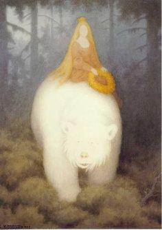 Kvitebjørn Kong Valemon, Theodor Kittelsen 1912 via blessed wild apple girl