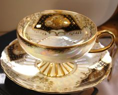 Vintage Royal Sealy Iridescent and Gilt by DadsTeacups on Etsy