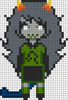 Meulin Leijon Homestuck Openbound Sprite Perler Bead Pattern / Bead Sprite