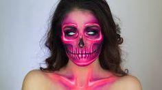 """Résultat de recherche d'images pour """"halloween skull neon make up"""""""