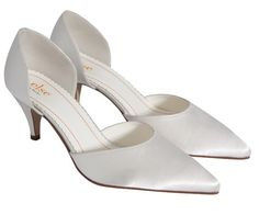 55e691b5ae A gorgeous mid height three quarter cut shoe with a stunning pointed toe.  This style · Kitten Heel Wedding ShoesSatin ...