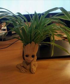 Woodfill Baby groot flower pot by LC3DP #practical