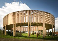 Doughnut-shaped pavilion in Limburg, Belgium, by Scottish artiste Aeneas Wilder. Untitled #158 by Aeneas Wilder