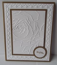 stampin up embossed cards | Stampin Up handmade greeting card wedding card Mr and Mrs embossed PY