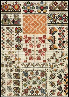 Medieval Embroidery, Palestinian Embroidery, Folk Embroidery, Cross Stitch Embroidery, Embroidery Patterns, Crochet Patterns, Cross Stitch Geometric, Cross Stitch Borders, Cross Stitch Designs
