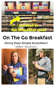 Quick and easy breakfast on the go. Enjoy a two egg and meat breakfast without the frying pan! Jimmy Dean Simple Scrambles® for a breakfast on-the-go! Breakfast Meat, Best Breakfast, Quick And Easy Breakfast, Breakfast On The Go, Jimmy Dean, Morning People, Media Kit, Dollar Store Crafts, Homemaking