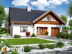 Dom w ipomeach Home Fashion, Sweet Home, Floor Plans, Exterior, Cabin, Mansions, House Styles, Building, Design