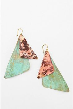 Sibilia patina brass earring