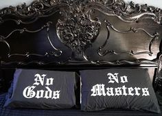 Goth pillow cases from blackcraftcult