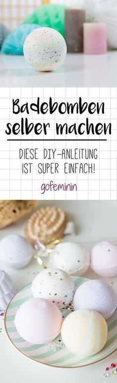 DIY bath bomb: We show how it's quick and easy! Informations About Badebomben selber machen: So geht Homemade Gifts, Diy Gifts, Diy For Kids, Gifts For Kids, E Cosmetics, Diy Deodorant, Deodorant Recipes, Natural Deodorant, Nails Polish