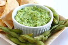 Edamame Guacamole Recipe. I haven't figured the PP on this, but it would really be worth every point.