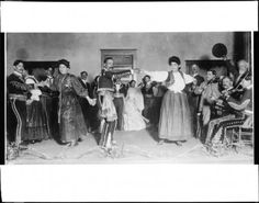Portrait of Spanish dancers led by Eugene Plummer and his daughter Francisco(a?), California, [s.d.] :: California Historical Society Collection, 1860-1960