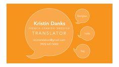 Translator business card.