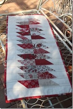 One Two Charm Table Runner pattern by Dawn Hay Design