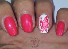 Pink Ribbon Butterfly by daysofnailartnl - Nail Art Gallery nailartgallery.nailsmag.com by Nails Magazine www.nailsmag.com #nailart
