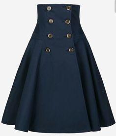Work Skirt navy - Outlet - Online Shop - Lena Hoschek Online Shop, Work Skirt navy - Outlet - On-line Store - Lena Hoschek On-line Store Work Skirt navy - Outlet - On-line Store - Lena Hoschek On-line Store Work Skirt. Mode Outfits, Skirt Outfits, Dress Skirt, Dress Up, Navy Skirt, Waist Skirt, Midi Skirt, Casual Outfits, Online Shop Kleidung