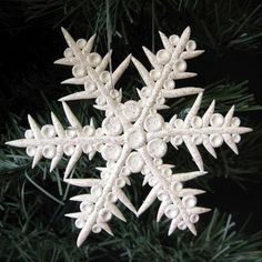 Another Polymer Clay Glitter Snowflake
