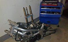 Millohblauer Werkzeugwagen