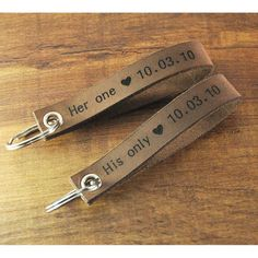 Personalized leather keychain, custom GPS coordinate key chain, couple keychain set, valentines gift,man's jewelry